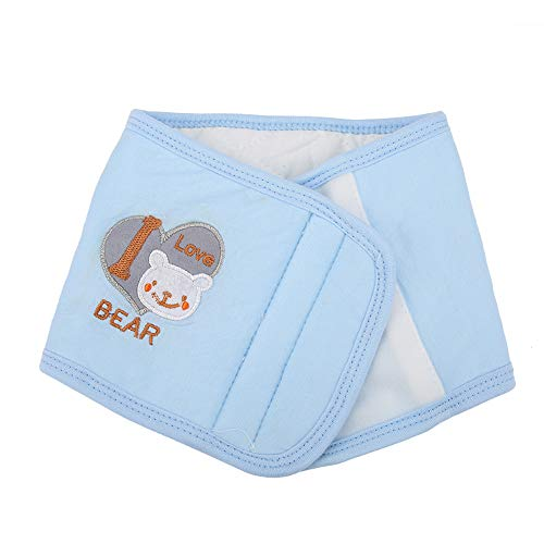 WOSUNE BELLY COVER BABY BELLY WRAP SKINFRIENDLY SOFT COTTON COMFORTABLE FOR HOME USE(LIGHT BLUE)