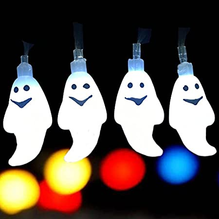 Happy Ghost String Lights - Adorable Halloween Decoration