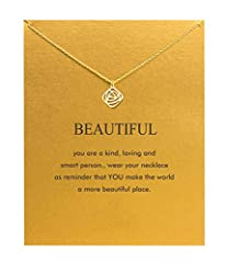 【Necklace Meaning】you are a kind, loving and smart person. wear your necklace as reminder thot YOU make the world a more beautiful place. 【Inspirational Message Card】 Start with a good quality greeting card to show that you value your girffriend, col...