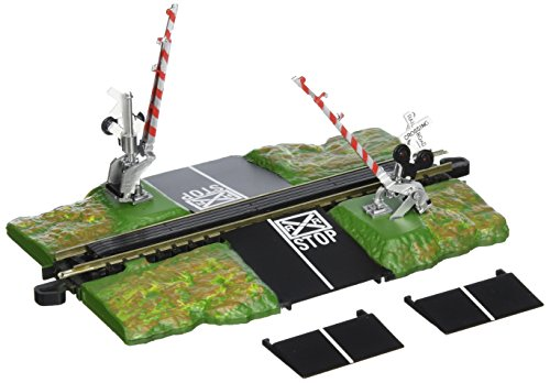 Bachmann Trains - Snap-Fit E-Z TRACK  E-Z TRACK CROSSING GATE - NICKEL SILVER Rail With Grey Roadbed - N Scale