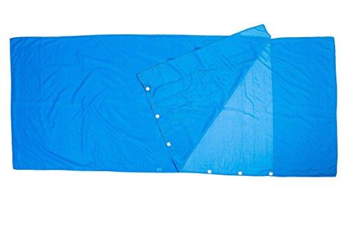 Montoza Drap de sac ultra léger, 170g, sac à viande en soie et coton, pour les voyages en refuges de montagne, le backpacking et les hôtels 1