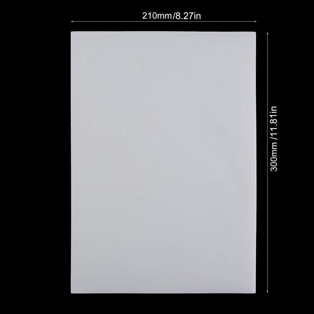 Queenaal 100pcs A4 de Papel de impresión por sublimación de poliéster algodón Camiseta Hierro Transferencia Libro Blanco: Amazon.es: Hogar