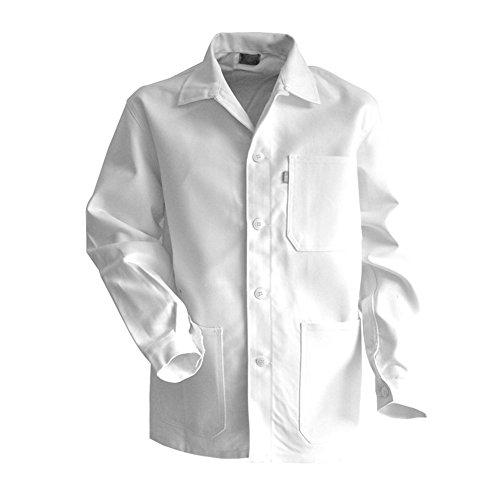 LMA - Chaqueta de pintor con cuello caballero en color blanco, blanco, 200244 ROULEAU