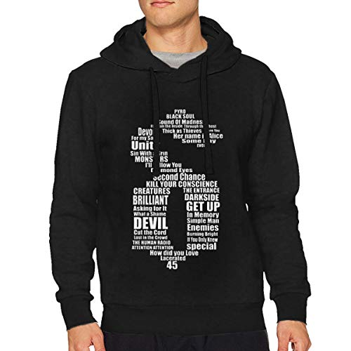 DorotyRTrumbauer Shinedown Men's Hoodie Performance Athletic Casual Pullover Sweatshirt XL Black