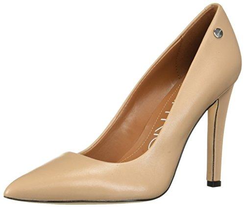 Calvin Klein Women's Brady Pump, Desert Sand Leather, 5.5