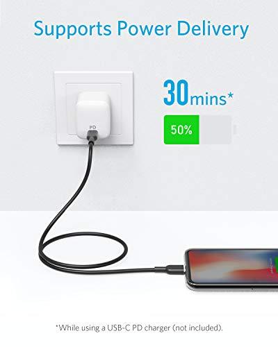 Anker PowerLine II USB C auf Lightning Kabel, 90cm lang, Apple MFi-Zertifiziert, für iphone 11/11 Pro/11 Pro max/X /XS/XR/XS Max/8 / 8 Plus, für Typ-C Ladegeräte, Unterstützt Power Delivery (Schwarz)
