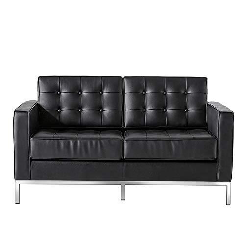 WFIZNB Sofá de Cuero, Silla, sofá de 2 Plaza, reclinable, sofá Individual, Conjunto de sofás de salón, sillón para Sala de Estar, Oficina, Sala de Estudio u Otra habitación Black