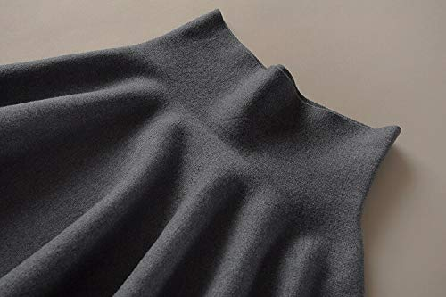 MIBKLPG Röcke Für Frauen Süße Miniröcke Stricken Hohe Taille Lässige Röcke Miniröcke Grau