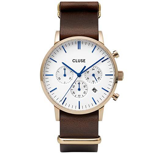 CLUSE Reloj Analógico para Hombre de Cuarzo con Correa en Cuero CW0101502009