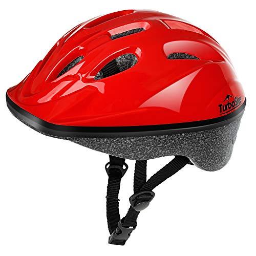 TurboSke Toddler Helmet, Youth Skateboard Helmet (Glossy Red, S)