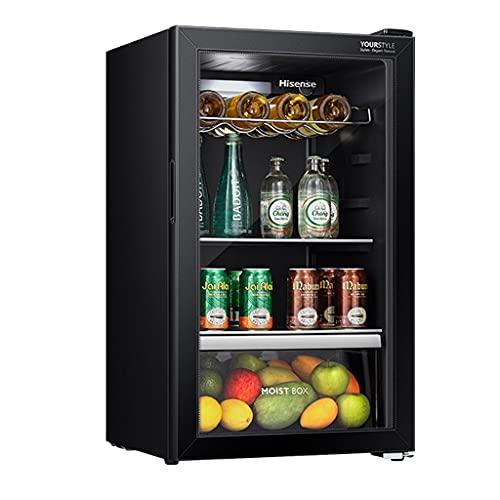 Refrigerador de Vino de Temperatura Constante 108L, refrigerador de Vino, Bodega Independiente, refrigerador de Barra de Hielo pequeño, Control de Temperatura con luz