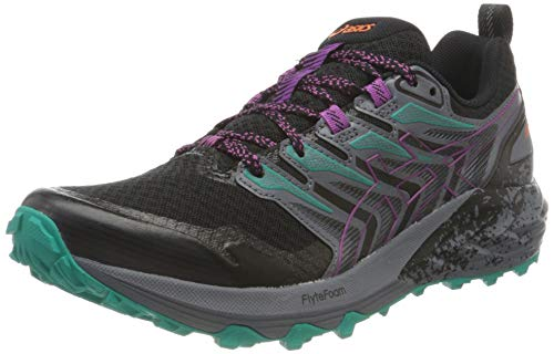 Asics Gel-Trabuco Terra, Trail Running Shoe Mujer, Black/Digital Grape, 38 EU