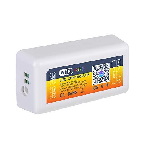 WEI-LUONG 12V 24V Smart LED Controlador WiFi RGB Iluminación Alexa Control Aplicación de Android/iOS para lámparas de Tira LED Luz
