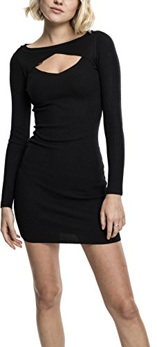 Urban Classics Ladies Cut out Dress Vestido, Negro (Black 7), S para Mujer