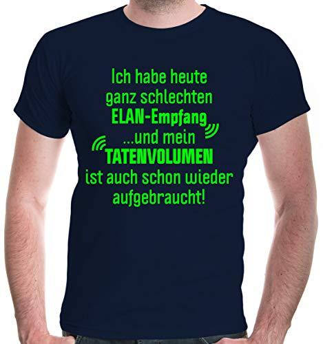 buXsbaum® T-Shirt Ich Habe Heute ganz schlechten Elan-Empfang | 3XL, Blau