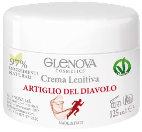 GLENOVA Cosmetics Crema Lenitiva Riscaldante All'artiglio del Diavolo, Ideale in Caso di tensioni muscolari e Preparazione allo Sport