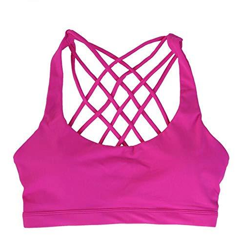 Vrouwen cross yoga beha professionele schokbestendige sportbeha Ademende gymtop Fitness Brassie ondergoed Push-up beugelloze bh's