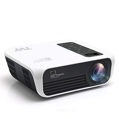 TVY WiFi Video Projector,Portable Native 1080P HD LED Movie Projector,5000 Lumens and 200