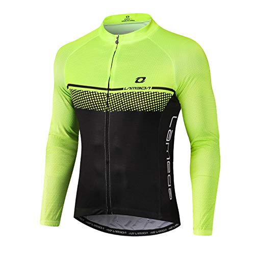 LAMEDA Maillot Ciclismo Hombre Ropa Camiseta Jersey Bicicleta MTB con Mangas Largas...