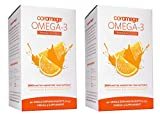Coromega Omega-3 Supplement, Orange Flavor, Squeeze Packets, 90-Count Box (Pack of 2)