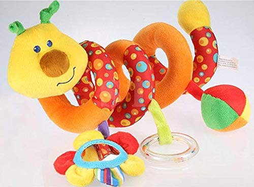 Small dimple Nouveau-né bébé Jouet Spirale lit Poussette Jouet Multifonctionnel lit Animal Suspendu / Voiture Suspendue / Jouet sensoriel