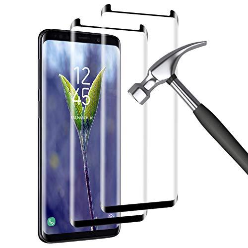 Mriaiz Panzerglas Kompatibel mit Samsung Galaxy S8, [2 Stück] S8 Schutzfolie, Blasenfrei, HD Panzerglasfolie, 9H-Härte, Anti-Bläschen, Displayschutzfolie für Samsung S8