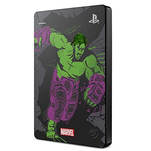 Seagate Game Drive para PS4 2 TB, Disco Duro portátil Externo HDD: USB 3.0, Avengers Special Edition – Hulk, compatible con PS4 y PS5 (STGD2000204)