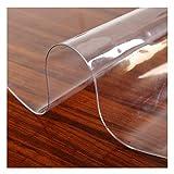 AWSAD Protector de mesa de cristal suave transparente, mantel de PVC redondo de 1,5 mm, 2 mm, 3 mm, resistente al agua y antiquemaduras, placa de cristal de plástico no lavable.