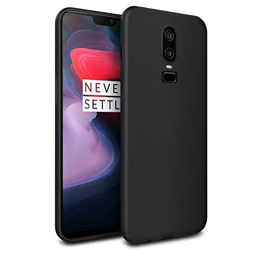 EasyAcc OnePlus 6 Hülle Case, Schwarz TPU Telefonhülle Matte Oberfläche Handyhülle Schutzhülle Schmaler Telefonschutz für Das OnePlus 6