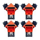 Toodii Plastic Woodworking Locator 5-22 mm Corner Clip Clamps Positioning Fixture Tool (Black)