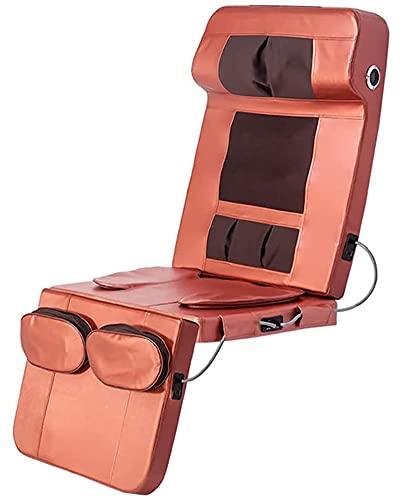 LJJ Portable Folding Full Body Massage Mat with Heat Wireless Bluetooth Music Massage Mattress Deep Tissue Kneading Massage Chair Pad for Home Office