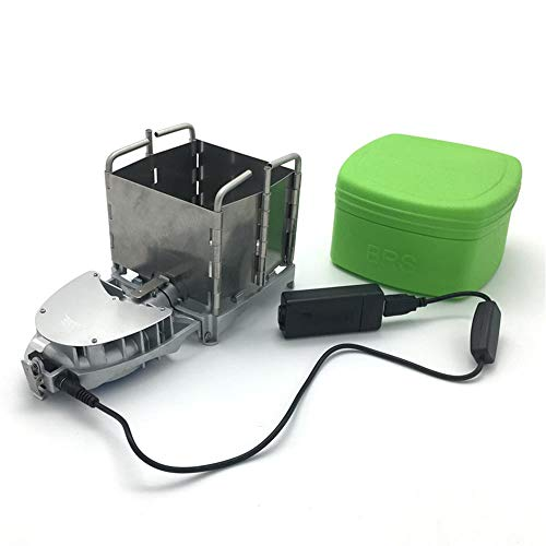 MLQ Portable Outdoor Camping Picnic Electronic Blower Stove, Foldable Never Rust Fire Stove, for Camping, Backyard, Hunting, Fishing and Climbing etc
