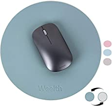 Weelth Mouse pad, Dual-Sided Round Mouse Mat with Non-Slip Thin Waterproof, Small Mousepad for Women Girls Computer Laptop Travel Office & Home
