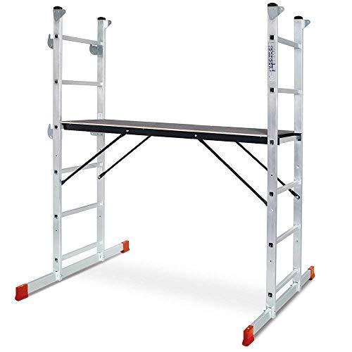 Andamio de montaje de aluminio, altura de trabajo hasta 3 m, plataforma...