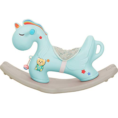 Caballo mecedora Caballo de Troya de Juguete Bebé Engrosamiento Silla plástica Grande para bebés...