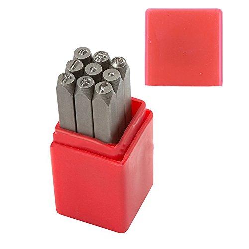 Demiawaking Stahl Puncsh Zahlen Zeichen Stempel Set Metall Stempel Leder Handwerk Werkzeug