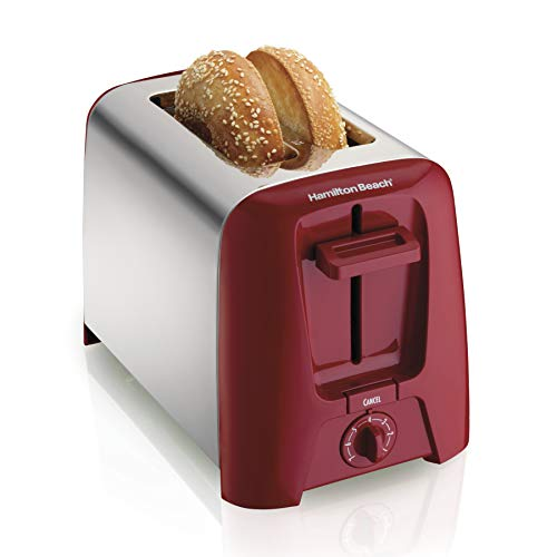 Hamilton Beach 2 Slice Extra-Wide Slot Toaster with Shade Selector, Toast Boost, Auto Shutoff, Red...