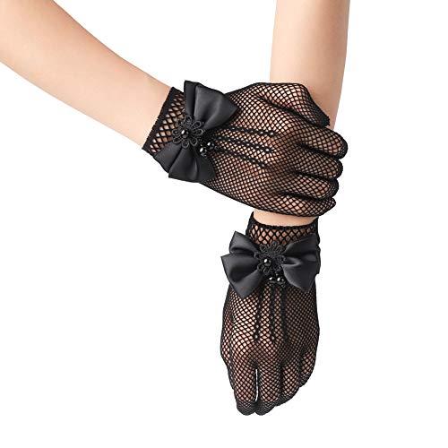 Xuhan Short Kids Size Flower Girls Princess Pageant Gloves for...