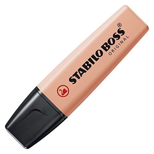 Textmarker - STABILO BOSS ORIGINAL Pastel - Einzelstift - cremige Pfirsichfarbe