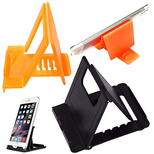 Rebel Mobile Stand Holder Small Mini Size Universal Adjustable 5 Steps Fold-able for All Phone Tablet Desk Multicolor (Pack 1)