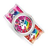 Watchitude   Kids Watch for Boys & Girls   Slap Band   Removable Face   Mix & Match   150+ Designs   Rainbow Unicorns