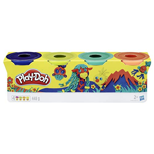 Play-Doh E4867ES0 4er Pack WILD, Knete für fantasievolles und kreatives Spielen