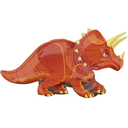 paduTec Ballon XXL Folienballon Luftballon - Tierballon Dinosaurier Dino Triceratops - Geburtstag Kindergeburtstag Überraschung Deko - geeignet zur befüllung mit Luft oder Helium Gas