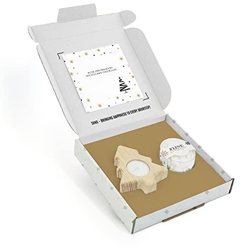 THNX – Kerst Cadeau – Merry Christmas – Kerstboomkaars – Pepermunt – Brievenbuscadeau – 20 x 18.5 x 2.8