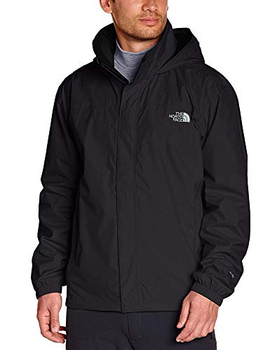 The North Face M Resolve, Giacca Impermeabile Uomo, Tasche laterali coperte, Nero (TNF Black), M