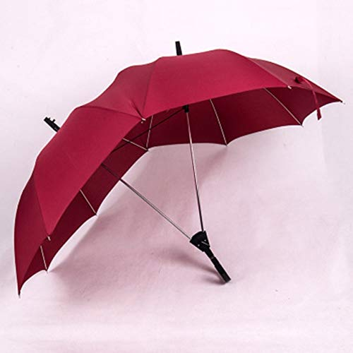 GJYX Regenschirm Qualität Langgriff Zwei Pole Paar Regenschirm Männer Regen Frau Halbautomatische Werbegeschenk Regenschirm Winddicht Sonnenschirme