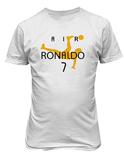 BTA Apparel Neu Fußball Air CR7 Ronaldo Cristiano Ronaldo Juve Herren T-Shirt (Weiß, S)