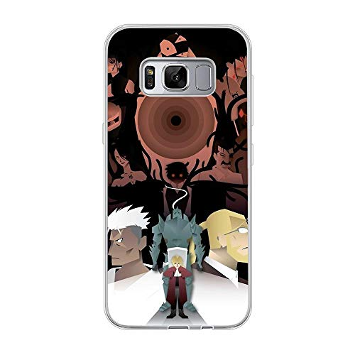 LAMMING Clear Case Silikon for Samsung Galaxy S8, Fullmetal-Alchemist 9 Ultra Thin Soft Rubber Anti-Shock Protective Phone Case