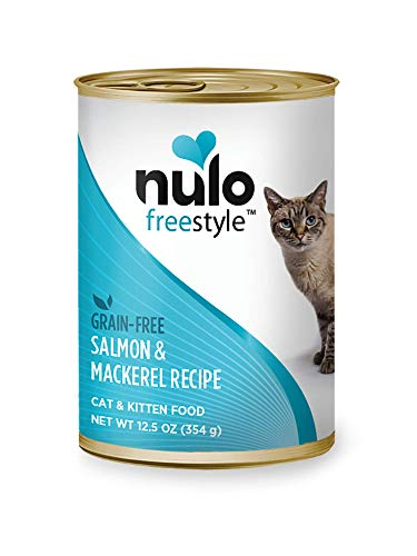 Nulo Grain Free Canned Wet Cat Food (Salmon & Mackerel, 12 oz, Case of 12)