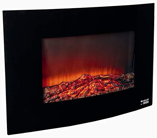 Einhell Elektrisches Kaminfeuer EF 1800 (2 Heizstufen mit 900 W + 1.800 W, LED-Flamme mit Dimmerfunktion, Frontpanel aus gewölbtem Sicherheitsglas, Überhitzungsschutz)